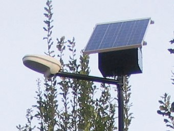 Lampioni fotovoltaici a led